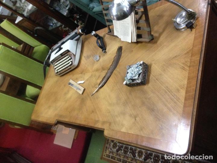 Antigüedades: Mesa estilo despacho con 5 cajones - Foto 3 - 57451041