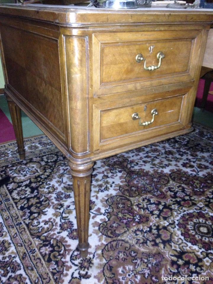 Antigüedades: Mesa estilo despacho con 5 cajones - Foto 5 - 57451041