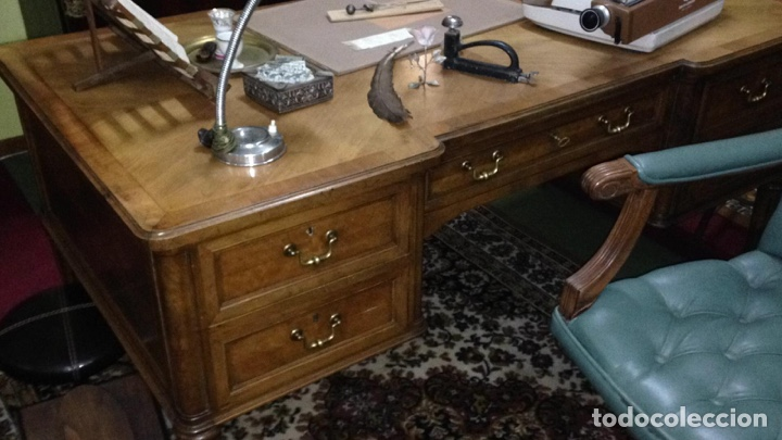 Antigüedades: Mesa estilo despacho con 5 cajones - Foto 6 - 57451041