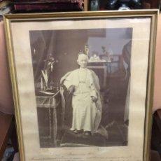 Antigüedades: SOLICITUD DE BENDICION INDULGENCIA AL PAPA LEON XIII DESDE HUESCA FOTOGRAFIA 1882 . Lote 148144302