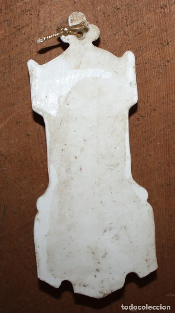 Antigüedades: BONITA BENDITERA DE PORCELANA-NEOGOTICA-VIRGEN. - Foto 2 - 148149414