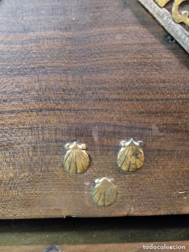 Antigüedades: Bargueño papelera Salmantino con herrería original S.XVI/XVII dos piezas. - Foto 13 - 154493005