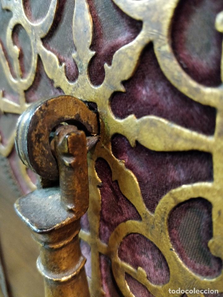 Antigüedades: Bargueño papelera Salmantino con herrería original S.XVI/XVII dos piezas. - Foto 25 - 154493005