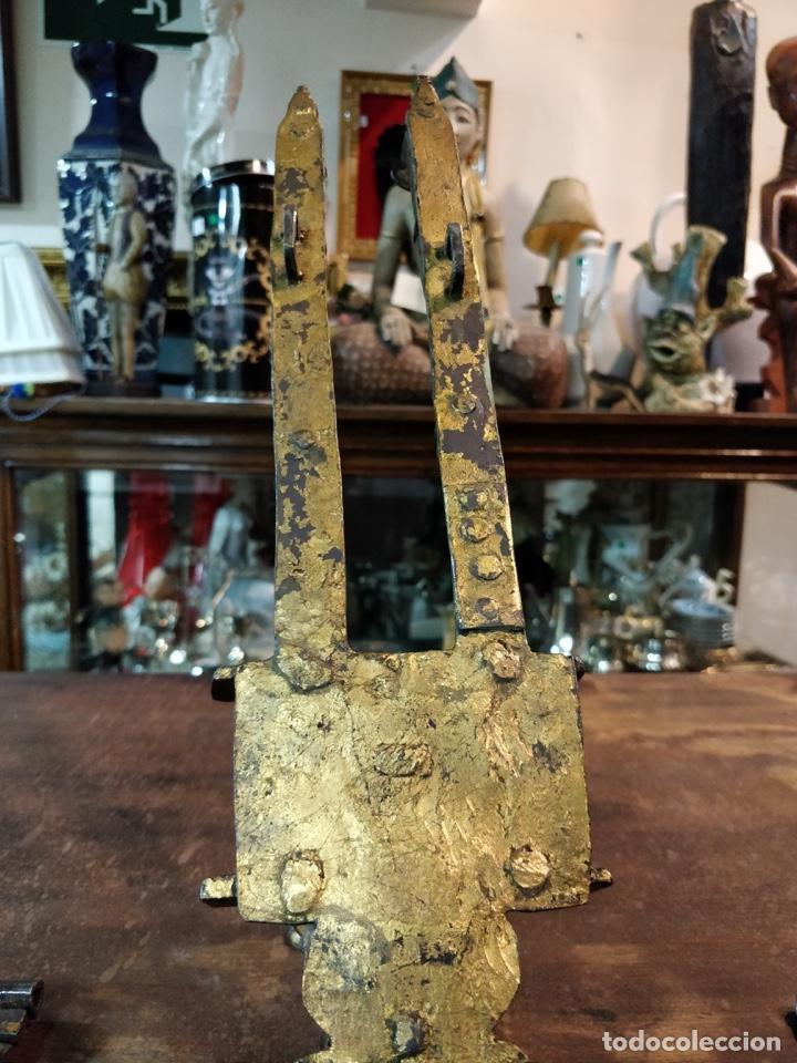 Antigüedades: Bargueño papelera Salmantino con herrería original S.XVI/XVII dos piezas. - Foto 31 - 154493005