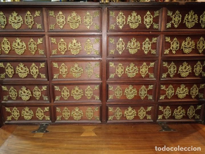 Antigüedades: Bargueño papelera Salmantino con herrería original S.XVI/XVII dos piezas. - Foto 36 - 154493005
