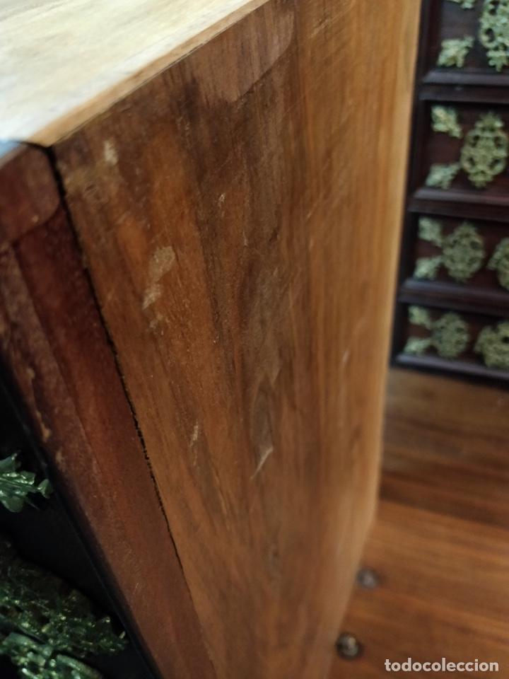 Antigüedades: Bargueño papelera Salmantino con herrería original S.XVI/XVII dos piezas. - Foto 45 - 154493005