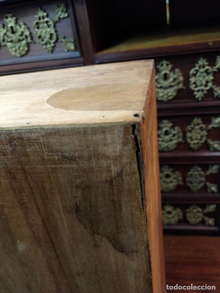 Antigüedades: Bargueño papelera Salmantino con herrería original S.XVI/XVII dos piezas. - Foto 46 - 154493005