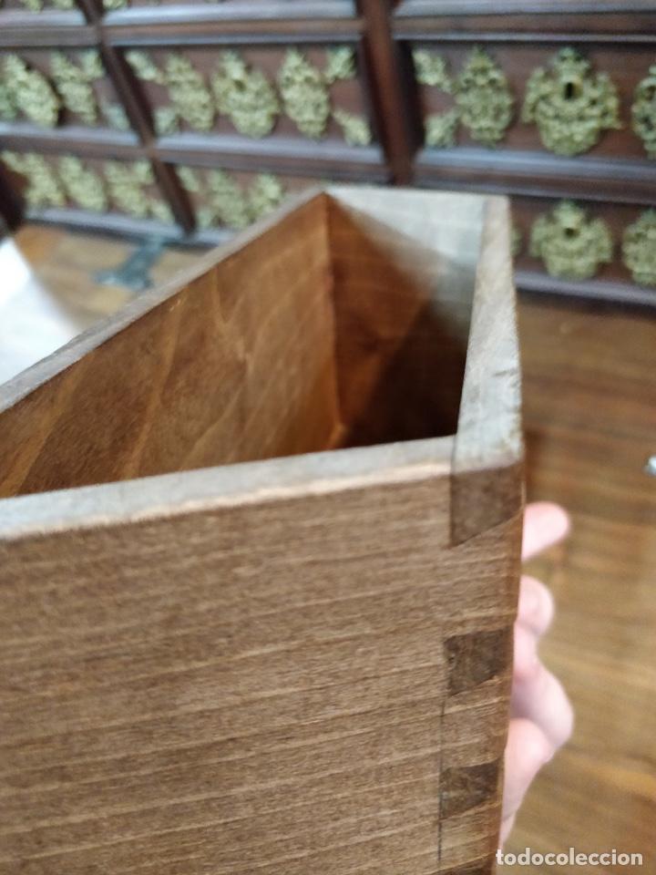 Antigüedades: Bargueño papelera Salmantino con herrería original S.XVI/XVII dos piezas. - Foto 55 - 154493005