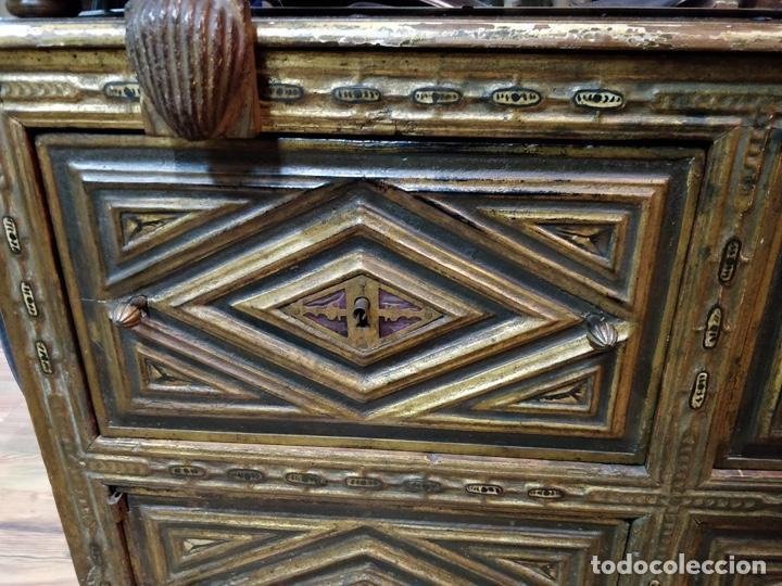 Antigüedades: Bargueño papelera Salmantino con herrería original S.XVI/XVII dos piezas. - Foto 64 - 154493005