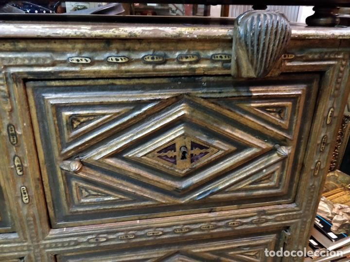 Antigüedades: Bargueño papelera Salmantino con herrería original S.XVI/XVII dos piezas. - Foto 65 - 154493005