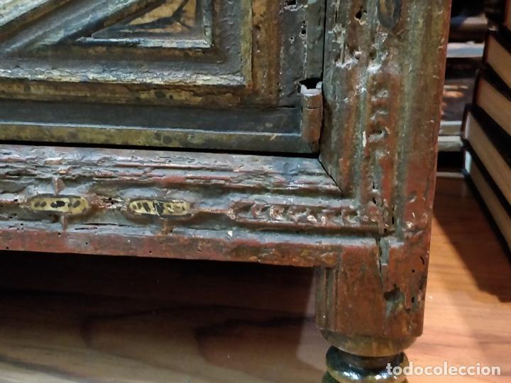 Antigüedades: Bargueño papelera Salmantino con herrería original S.XVI/XVII dos piezas. - Foto 66 - 154493005