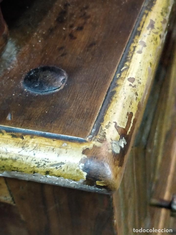 Antigüedades: Bargueño papelera Salmantino con herrería original S.XVI/XVII dos piezas. - Foto 69 - 154493005