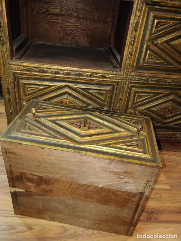 Antigüedades: Bargueño papelera Salmantino con herrería original S.XVI/XVII dos piezas. - Foto 78 - 154493005