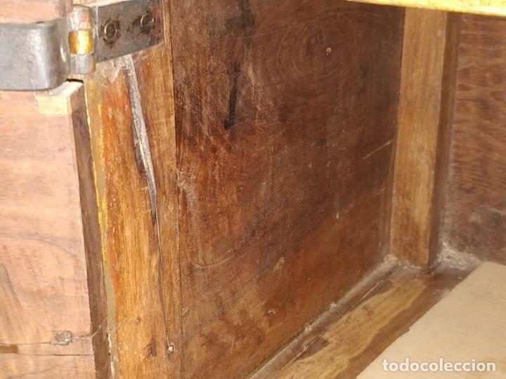 Antigüedades: Bargueño papelera Salmantino con herrería original S.XVI/XVII dos piezas. - Foto 82 - 154493005