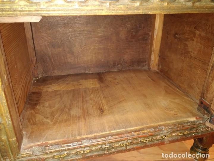 Antigüedades: Bargueño papelera Salmantino con herrería original S.XVI/XVII dos piezas. - Foto 83 - 154493005