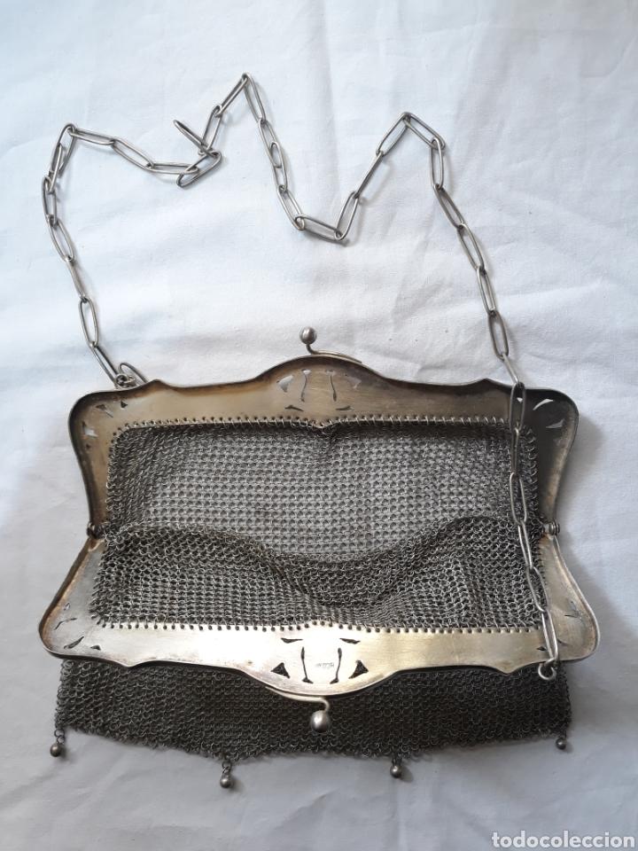 Antigüedades: Monedero bolso de plata 800 principios de siglo. - Foto 2 - 148159462