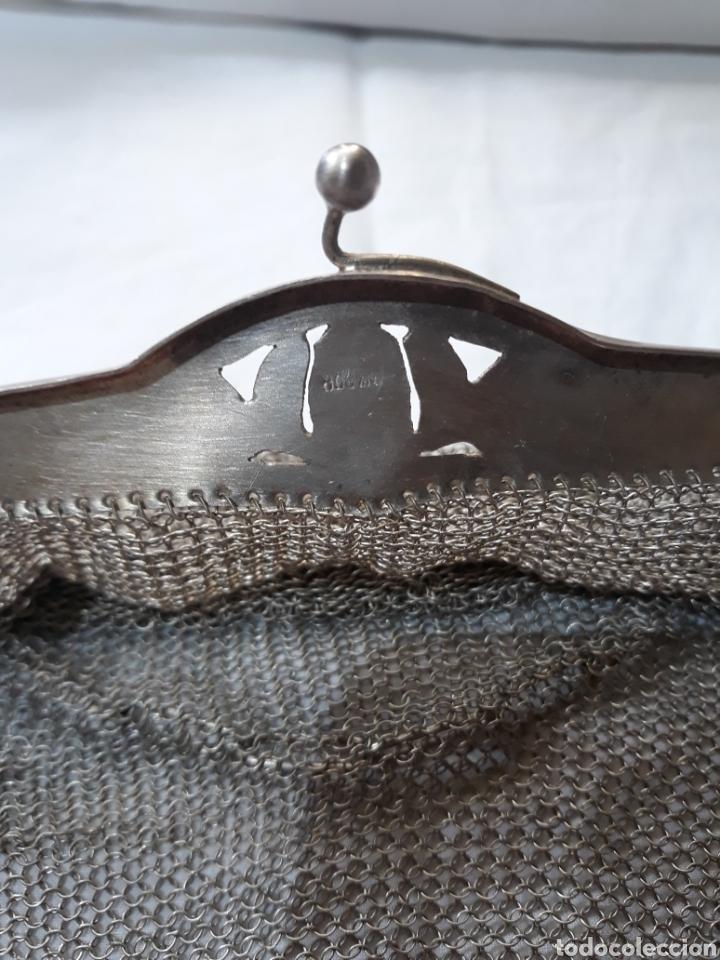 Antigüedades: Monedero bolso de plata 800 principios de siglo. - Foto 3 - 148159462