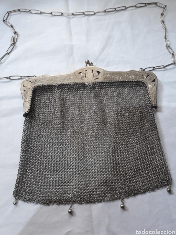 Antigüedades: Monedero bolso de plata 800 principios de siglo. - Foto 4 - 148159462