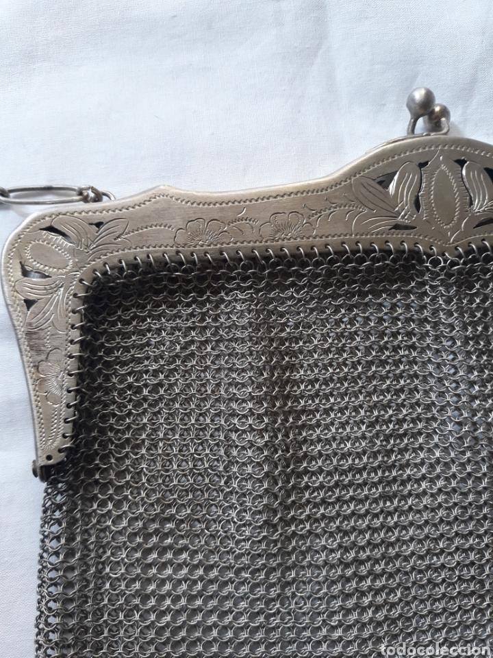 Antigüedades: Monedero bolso de plata 800 principios de siglo. - Foto 5 - 148159462