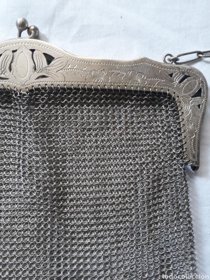 Antigüedades: Monedero bolso de plata 800 principios de siglo. - Foto 6 - 148159462