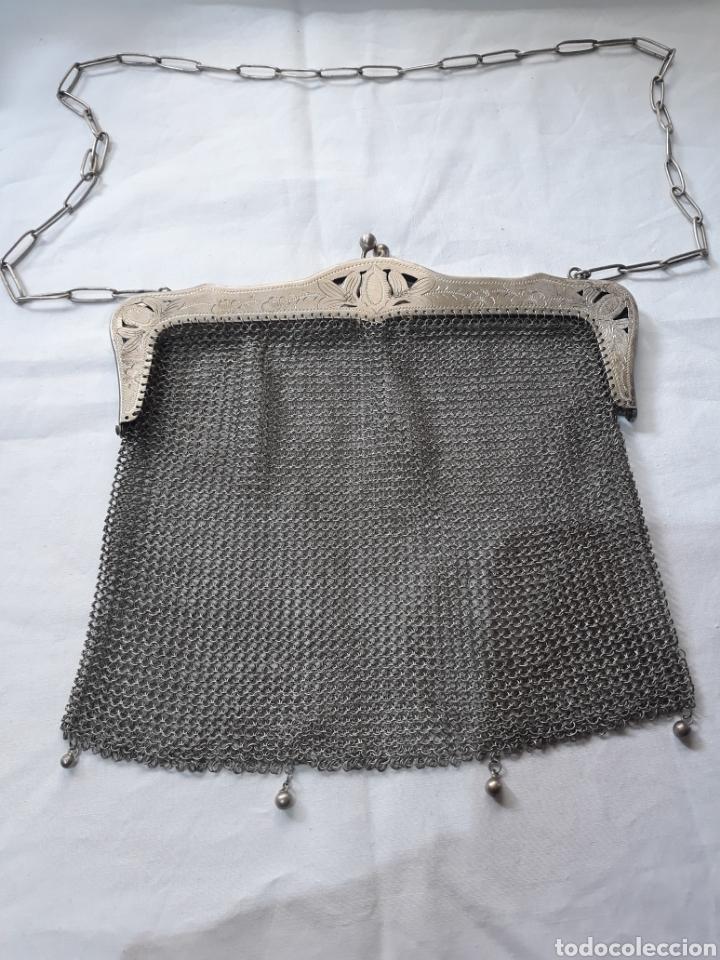 Antigüedades: Monedero bolso de plata 800 principios de siglo. - Foto 8 - 148159462