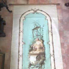 Antigüedades: CUBREVENTANA O ADORNO PARA PARED CON CHINERIAS. S.XIX.. Lote 148202654