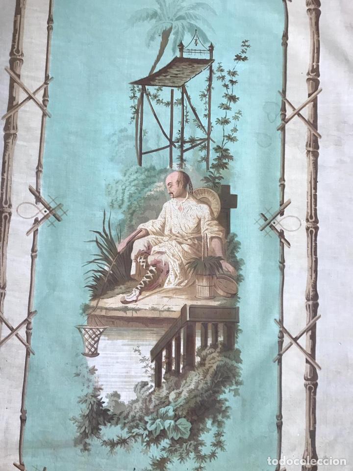 Antigüedades: Cubreventana o adorno para pared con chinerias. S.XIX. - Foto 3 - 148202654