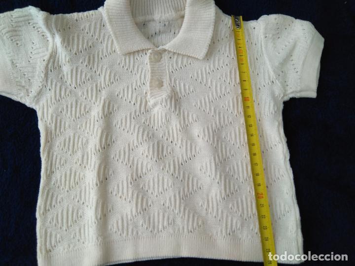 Antigüedades: Jersey infantil punto de algodón con dibujo. Manga corta 24 x 26 cm. años 1960 - Foto 2 - 148226146