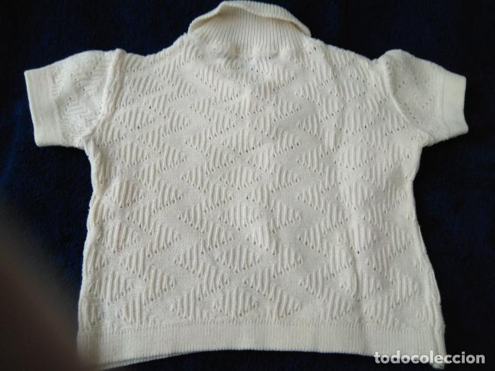 Antigüedades: Jersey infantil punto de algodón con dibujo. Manga corta 24 x 26 cm. años 1960 - Foto 3 - 148226146