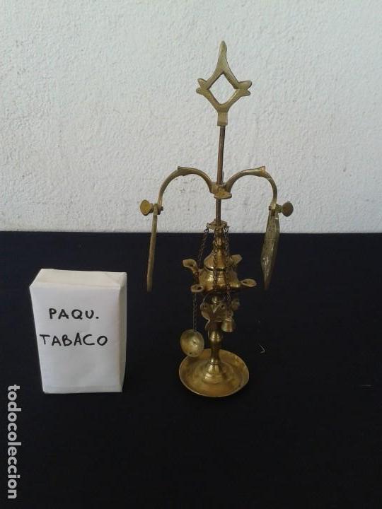 Antigüedades: PEQUEÑA LAMPARA DE ACEITE VELÓN DECORACION - Foto 2 - 147782454