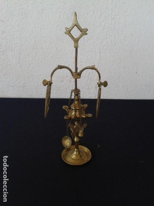 PEQUEÑA LAMPARA DE ACEITE VELÓN DECORACION (Antigüedades - Iluminación - Otros)
