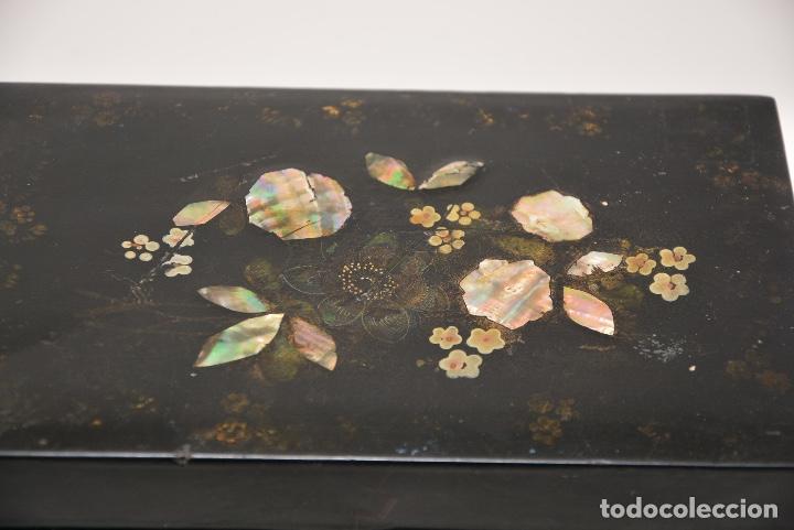 Antigüedades: CAJA DE TE INGLESA DEL SIGLO 19 - Foto 4 - 148250682