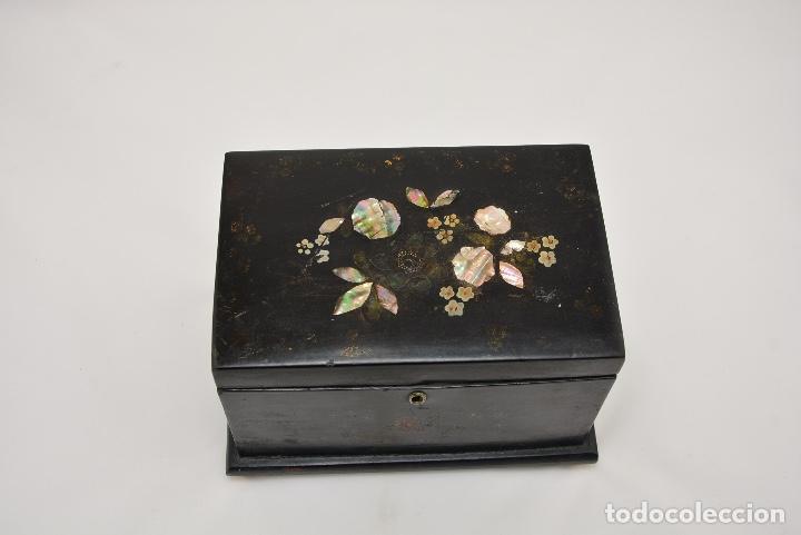 Antigüedades: CAJA DE TE INGLESA DEL SIGLO 19 - Foto 5 - 148250682