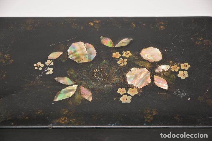 Antigüedades: CAJA DE TE INGLESA DEL SIGLO 19 - Foto 8 - 148250682