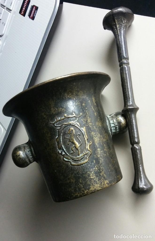 ALMIREZ DE BRONCE MUY ANTIGUO (Antigüedades - Técnicas - Rústicas - Utensilios del Hogar)