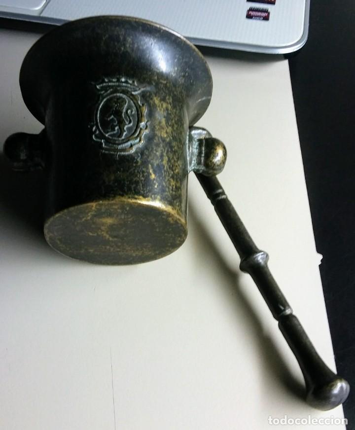 Antigüedades: ALMIREZ DE BRONCE MUY ANTIGUO - Foto 4 - 148268262