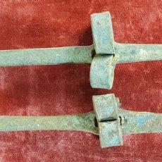 Antigüedades: PAREJA DE ANTIGUOS AFILADORES PARA HOCES Y GUADAÑAS. HIERRO FORJADO. SIGLO XVIII-XIX.. Lote 148269302