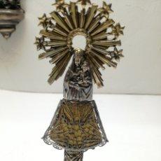 Antiquitäten - Preciosa Virgen del Pilar antigua en plata - 148283310