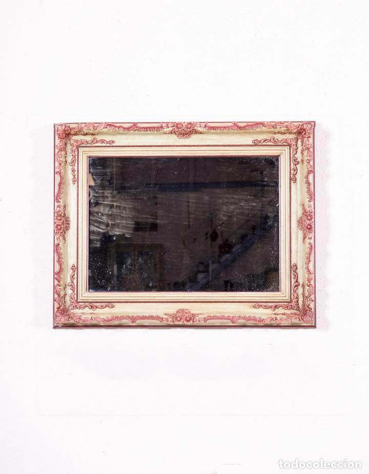 ESPEJO ANTIGUO RESTAURADO CORAL (Antigüedades - Muebles Antiguos - Espejos Antiguos)