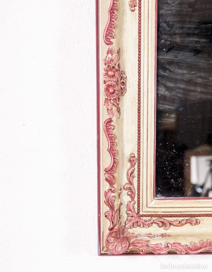 Antigüedades: Espejo Antiguo Restaurado Coral - Foto 2 - 148287846