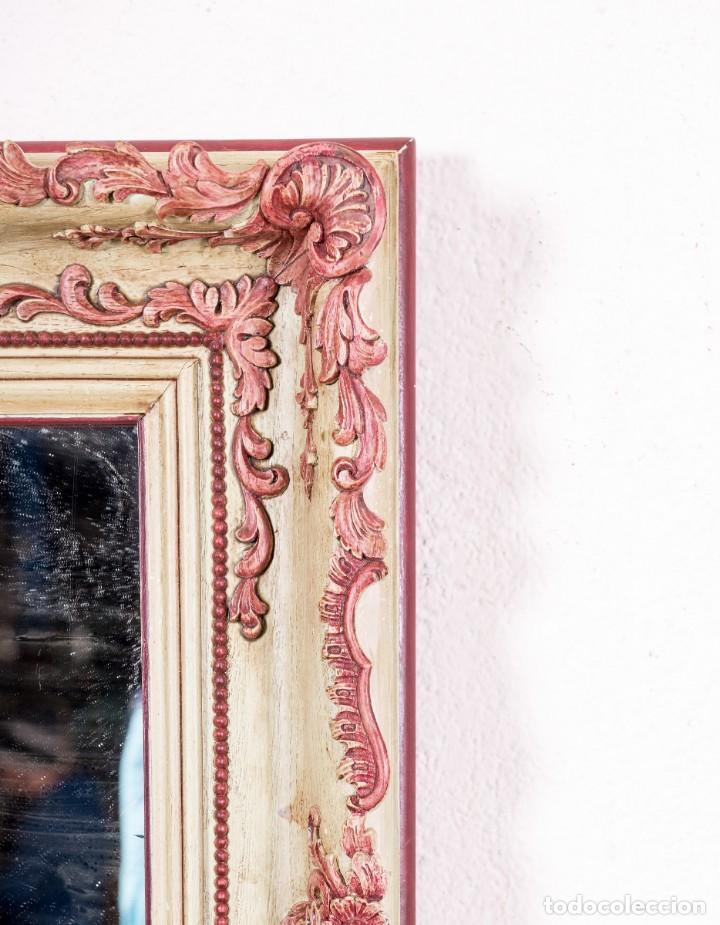 Antigüedades: Espejo Antiguo Restaurado Coral - Foto 3 - 148287846