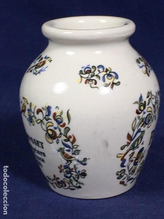 Antigüedades: antiguo bote de mostaza digoin pikarome sellada sarregemines ceramica porcelana francesa años 50 - Foto 3 - 148293706