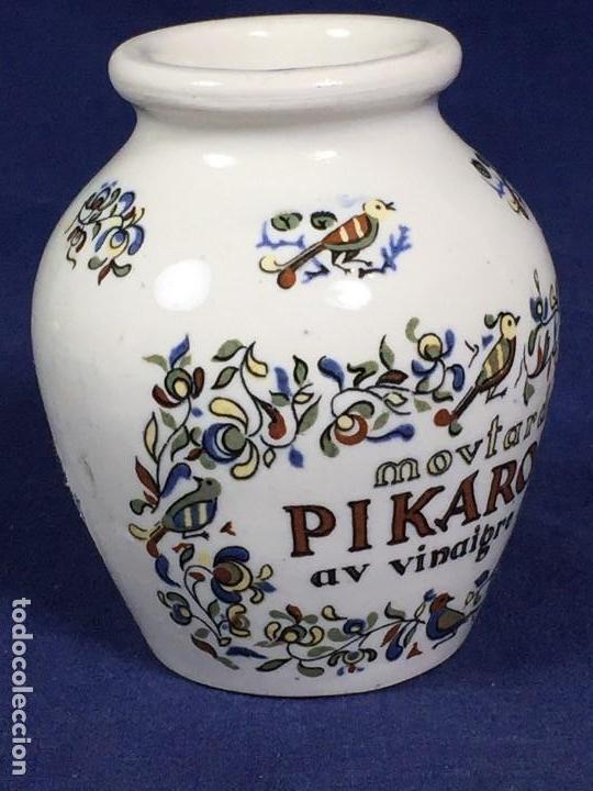 Antigüedades: antiguo bote de mostaza digoin pikarome sellada sarregemines ceramica porcelana francesa años 50 - Foto 4 - 148293706
