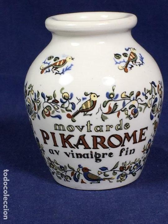 Antigüedades: antiguo bote de mostaza digoin pikarome sellada sarregemines ceramica porcelana francesa años 50 - Foto 5 - 148293706