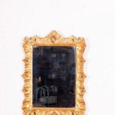 Antigüedades: ESPEJO EN PAN DE ORO ANTIGUO. Lote 148303782