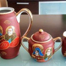 Antigüedades: JUEGO DE CAFE NAKASIMA HAND PAINTED VINTAGE. Lote 148328534