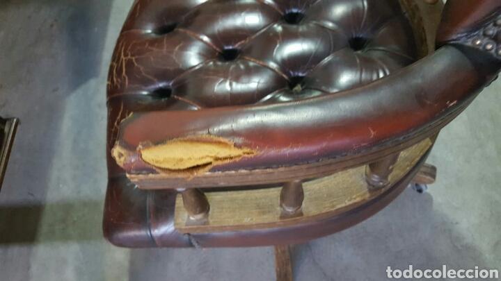 Antigüedades: Mesa Escritorio Victoriana y Sillón Eduardiano - Foto 5 - 148342269