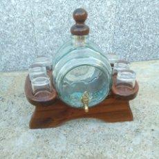 Antigüedades: VINATERA DE CRISTAL. Lote 148344432
