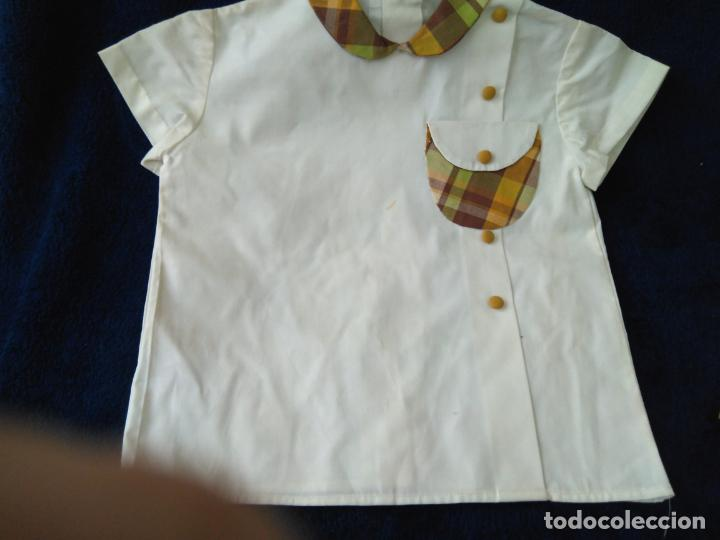 Antigüedades: Camisa y pantalón niño, Terlenka. Creac.Oro Aranjuez, talla 40 sin uso para coleccionistas años 60 - Foto 2 - 148349650