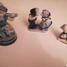 Antigüedades: LOTE DE 2 PAREJAS Y UNA MUJER PORCELANA. Lote 148353033